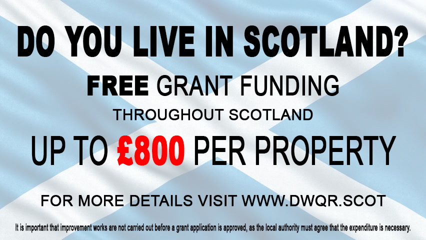 £800 water treatment grant Scotland